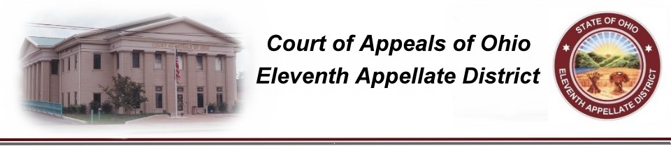 Photo of the Eleventh District Court of Appeals building and image of logo.